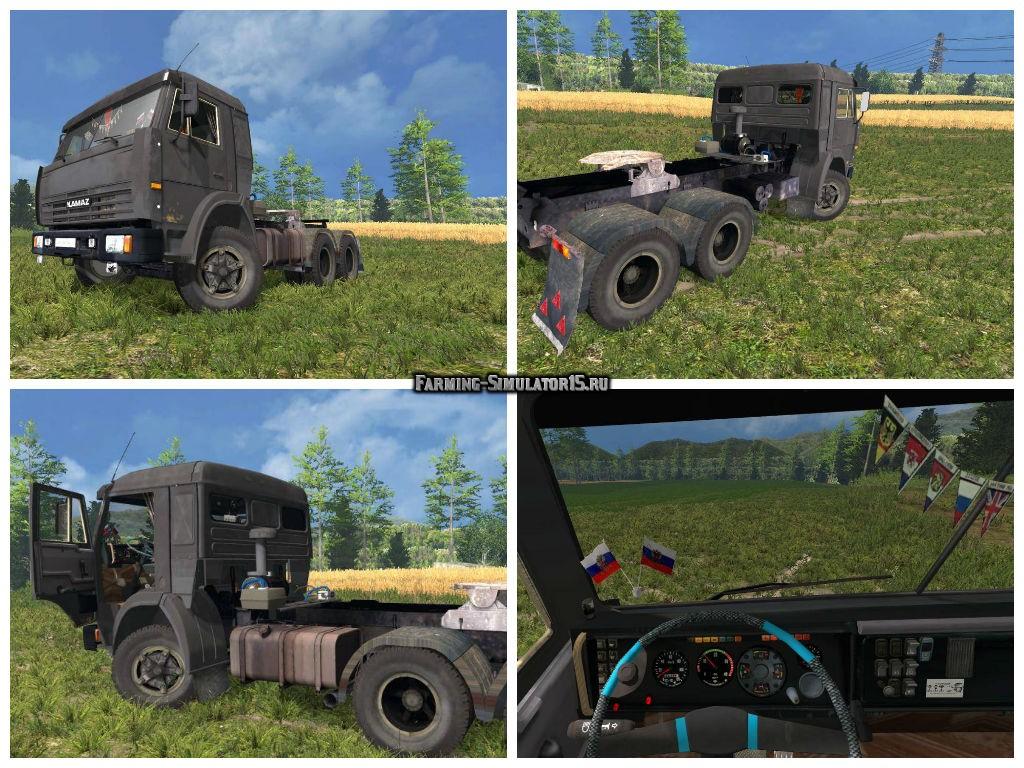 Мод грузовик КамАЗ 55111 v3 Фарминг Симулятор 2015