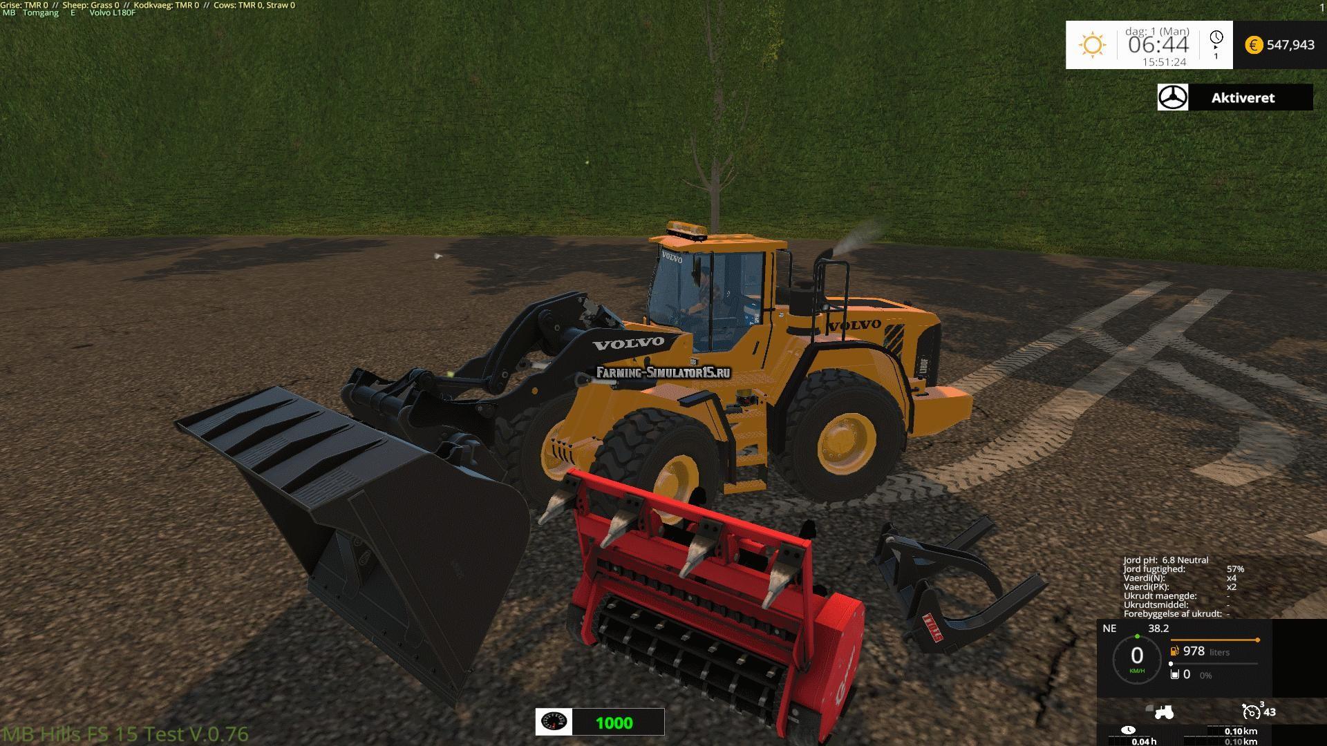 Мод погрузчик Volvo 180F v 6.0 Fixed Farming Simulator 2015