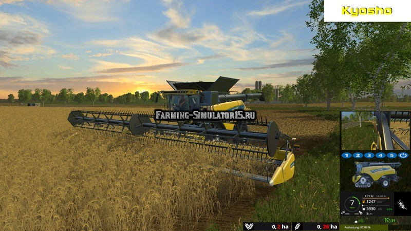 Мод комбайн New Holland CR10.90 Monitored v 1.0 Farming Simulator 2015