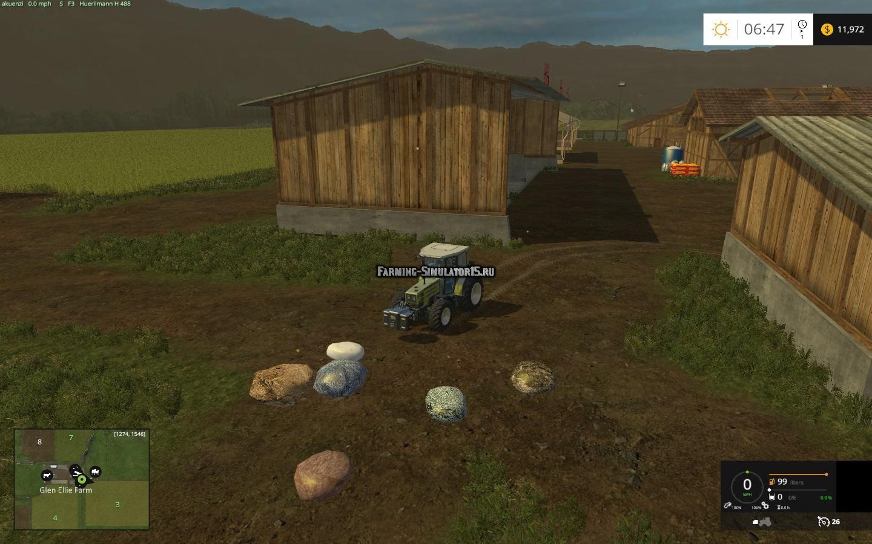 Мод камни Placeable Rocks v1.0 Farming Simulator 2015