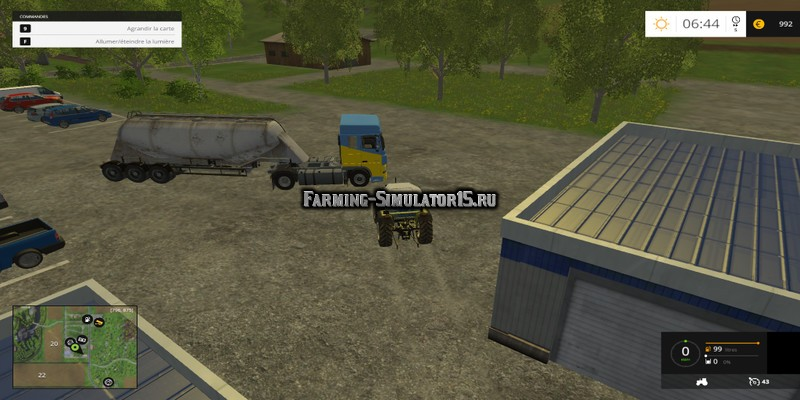 Мод Placeable Truck & Trailer v.1.0 Farming Simulator 15
