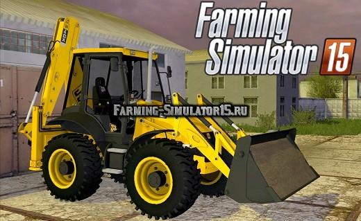 Мод погрузчик JCB 4CX V1.1 Farming Simulator 15