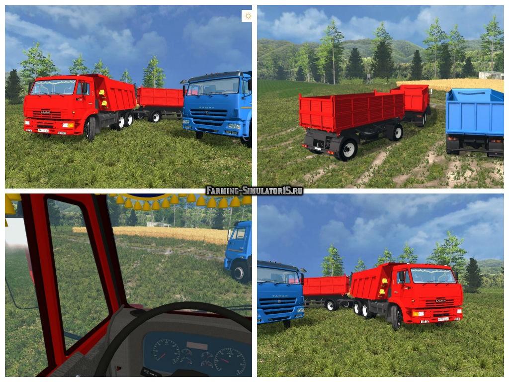 Мод грузовик КамАЗ KamAZ-65115 & 6520 Sovok v1.0 Фермер Симулятор 2015