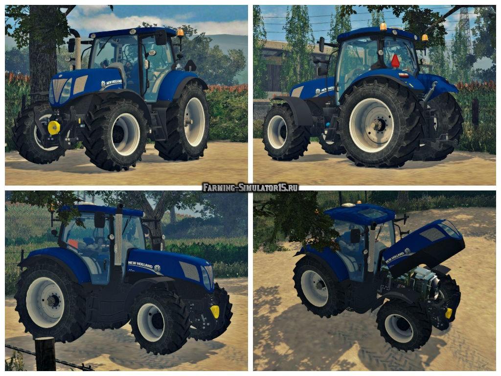 Мод трактора New Holland T7170 v2.0 Farming Simulator 15