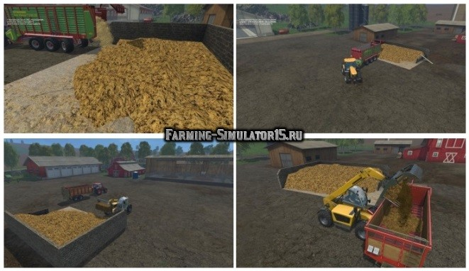 Мод преобразователь навоза Placeable Misthaufen v1.0 Farming Simulator 15