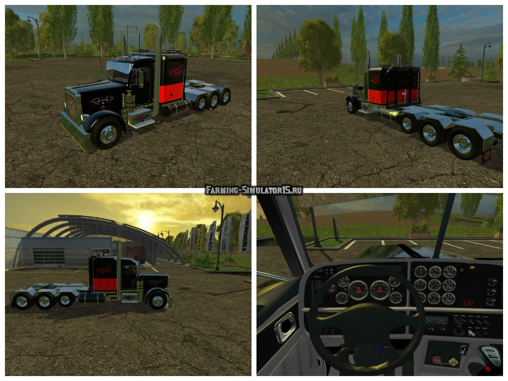 Мод грузовик Peterbilt 388 v 2.0 Farming Simulator 2015