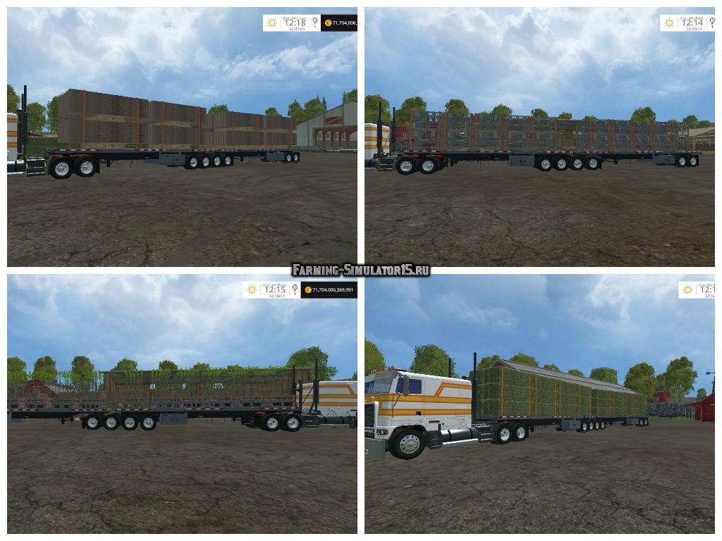 Мод прицеп American Super B Autoload v 1.0 Farming Simulator 15