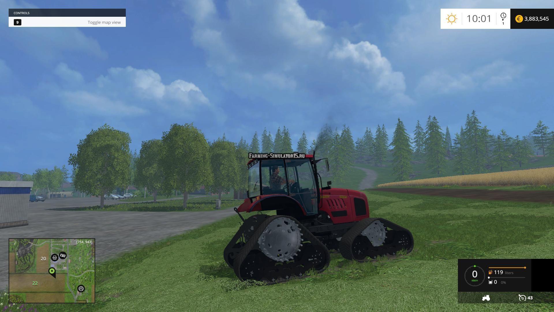 Мод трактор МТЗ MTZ 2022 Crawler v 1.0 Фермер Симулятор 2015