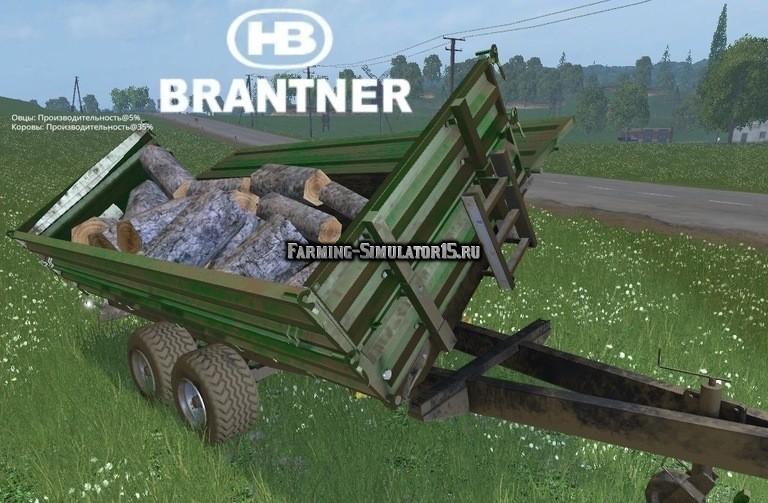 Мод прицеп Brantner Tandem MK Kurzholzkipper v1.0 Farming Simulator 15
