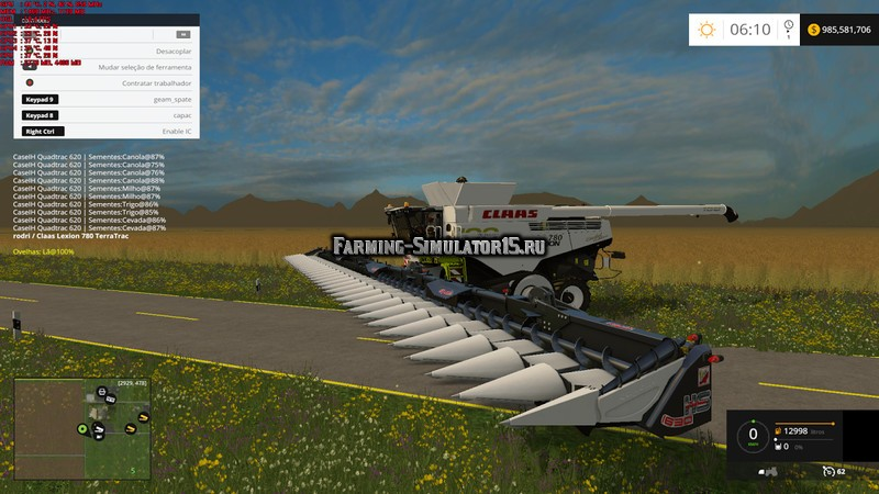 Мод жатка Capello HS30 v 5.0 Farming Simulator 2015