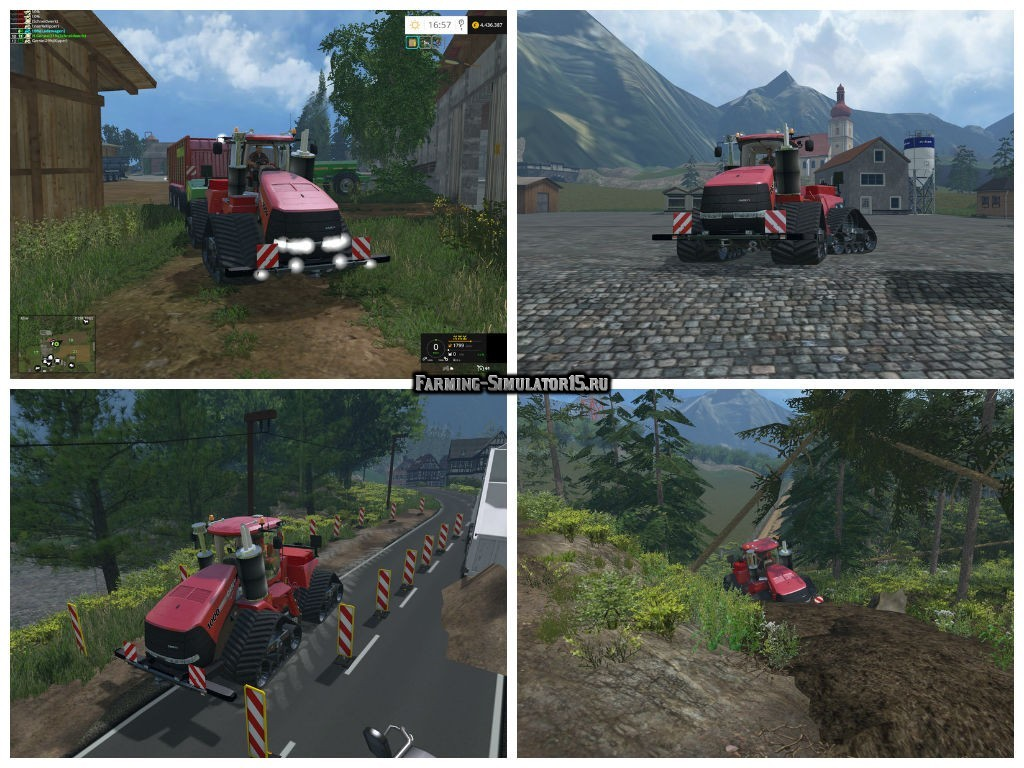 Мод трактор Case IH QuadTrac 1000 Turbo v 1.2 Farming Simulator 15