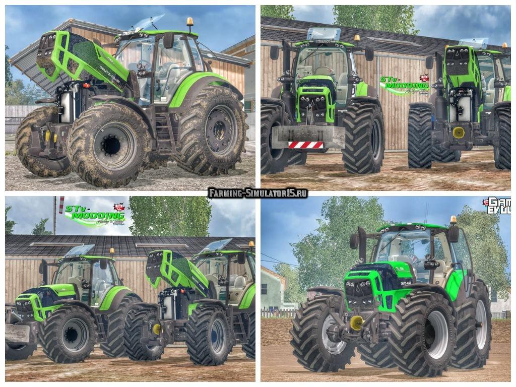 Мод трактора Deutz Fahr TTV 7250 & 7210 v 4.1 Farming Simulator 2015