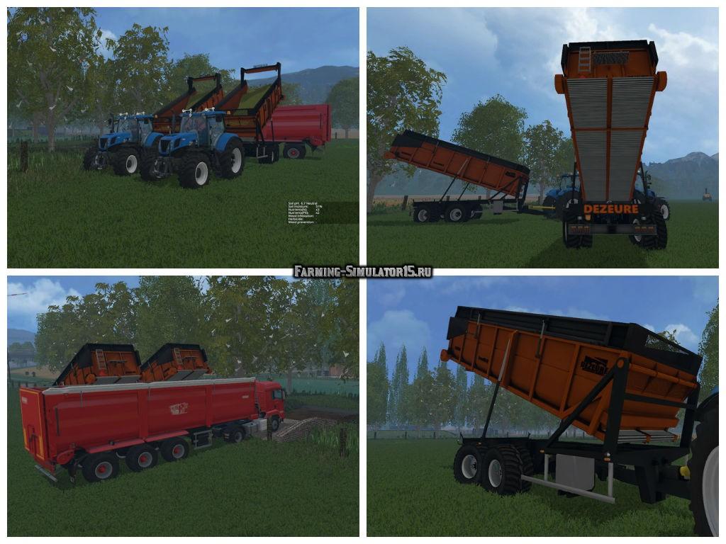 Мод прицеп Dezeure Transmax v 1.0 Farming Simulator 15