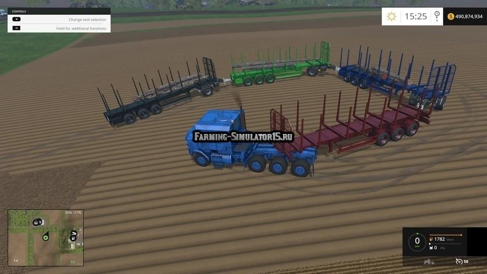 Мод прицеп Flieg Timber Runner with Auto Load Wood v 0.2.0 Farming Simulator 15