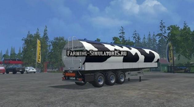 Мод прицеп Fliegl Milchtanker Euro-Agrar v0.91 Beta Farming Simulator 15