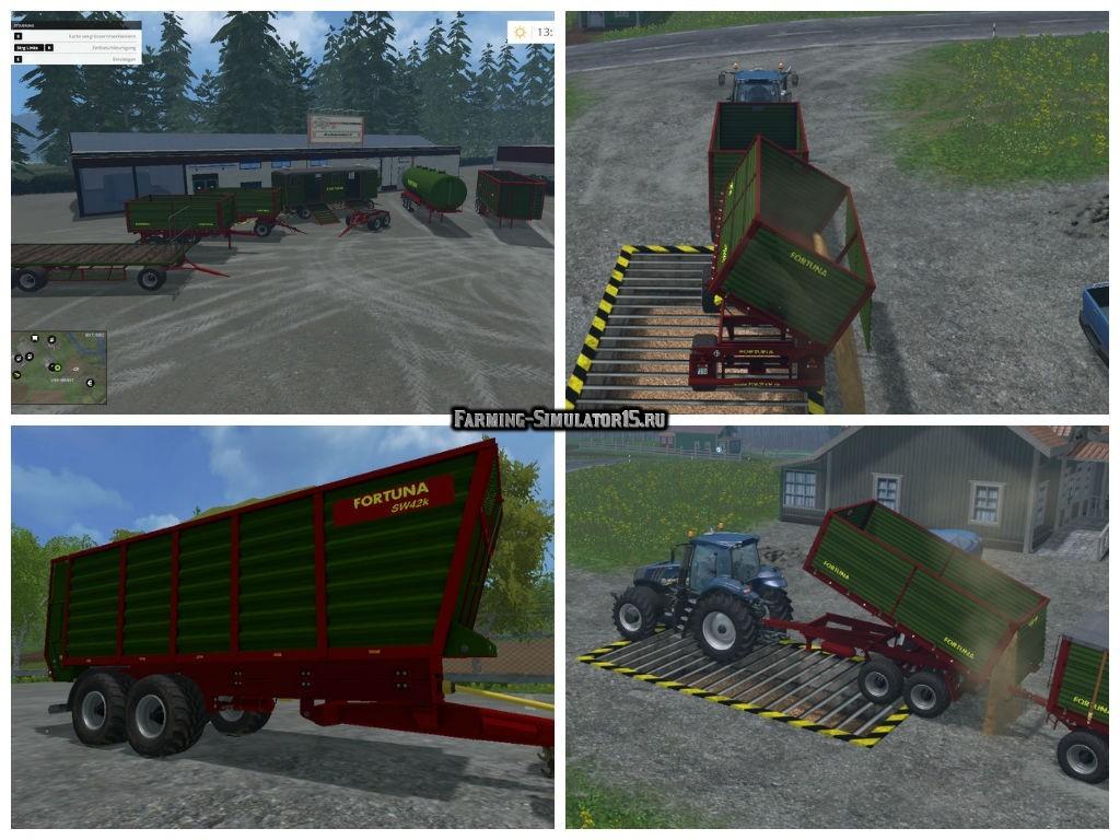 Мод ПАК прицепы Fortuna Trailer Pack v 1.2 Farming Simulator 2015
