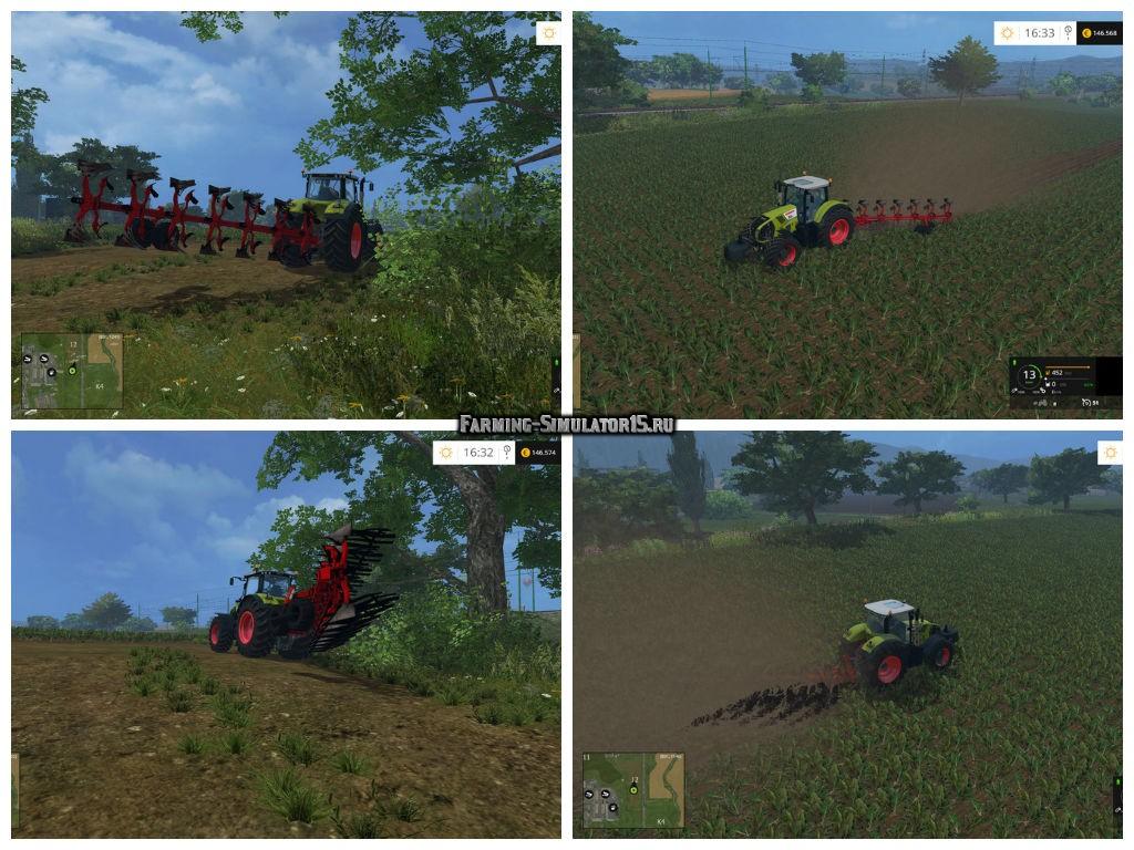Мод плуг Gregoire Besson RW9 v 1.1 Farming Simulator 15