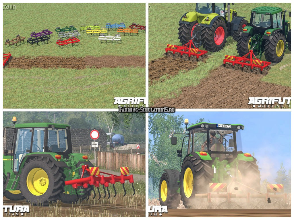 Мод плуг Garda 2.5 m v 2.0 Plough Farming Simulator 15