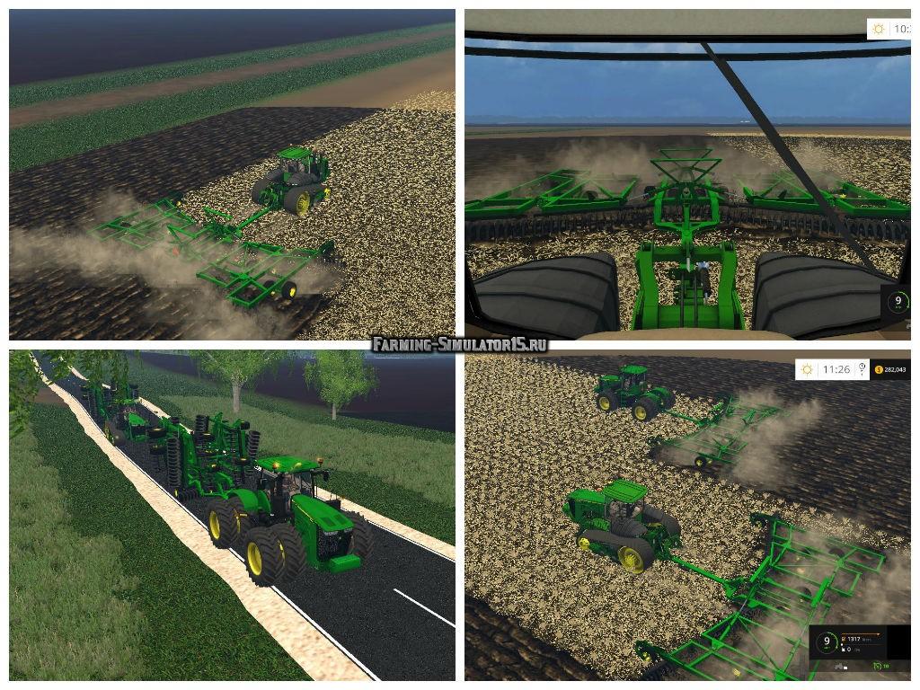 Мод культиватор John Deere 2623 50ft v 1.0 Farming Simulator 15