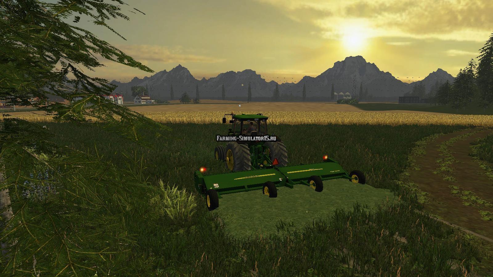 Мод газонокосилка John Deere 520 Flail Mower v 1.0 Farming Simulator 15