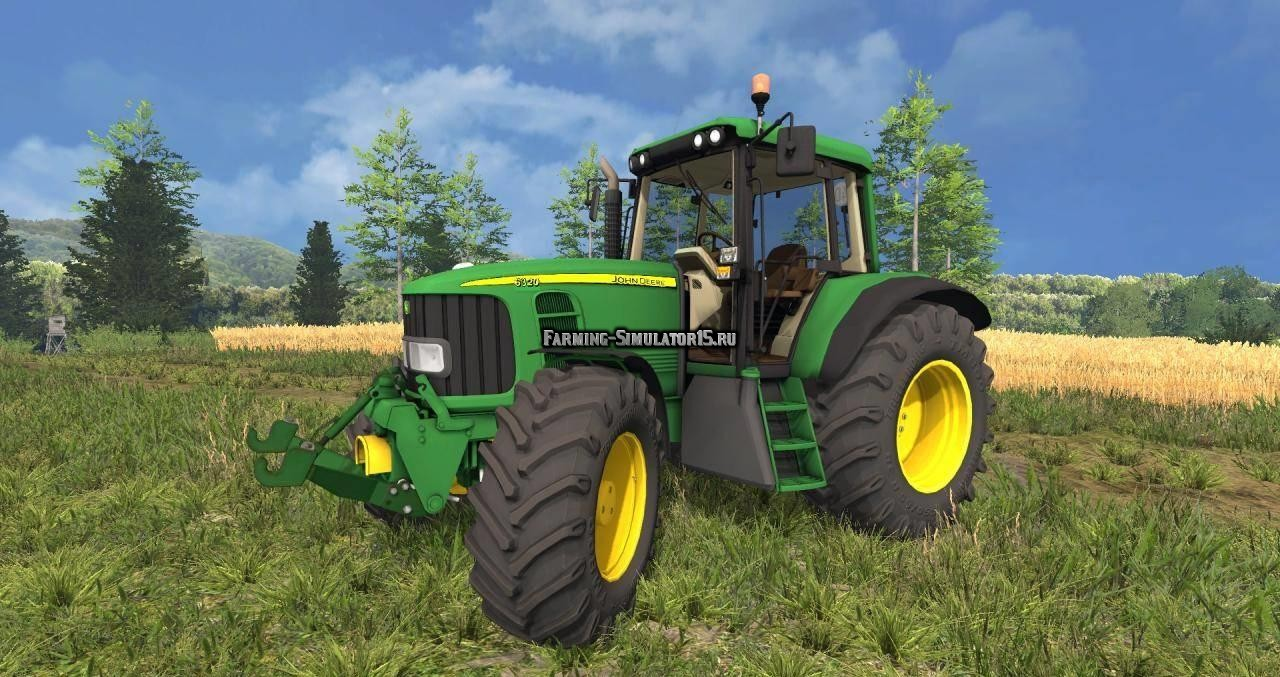 Мод трактор John Deere 6320 Beta Farming Simulator 15