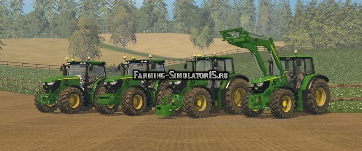 Мод ПАК тракторов John Deere 6R/6M Big Pack Farming Simulator 15