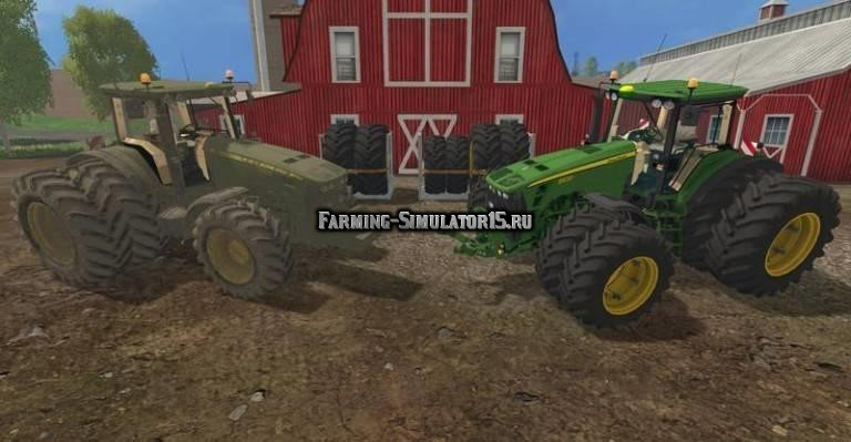 Мод трактора John Deere 8030 Pack Washable Farming Simulator 15