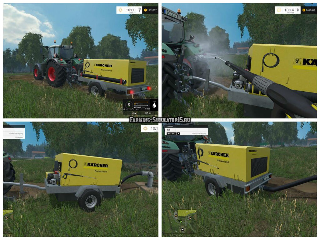 Мод мойка Kaercher Portable Pressure Washer v 1.0 Farming Simulator 15