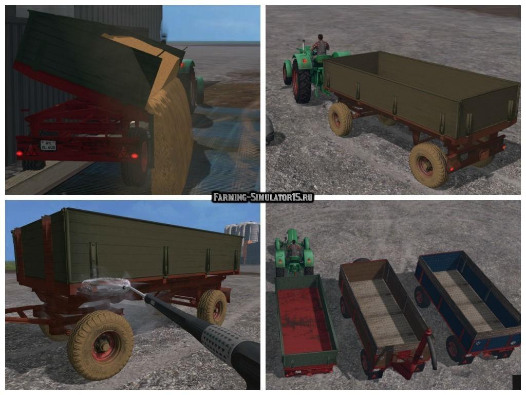 Мод прицеп Krone Emsland Replica v 1.0 Farming Simulator 15