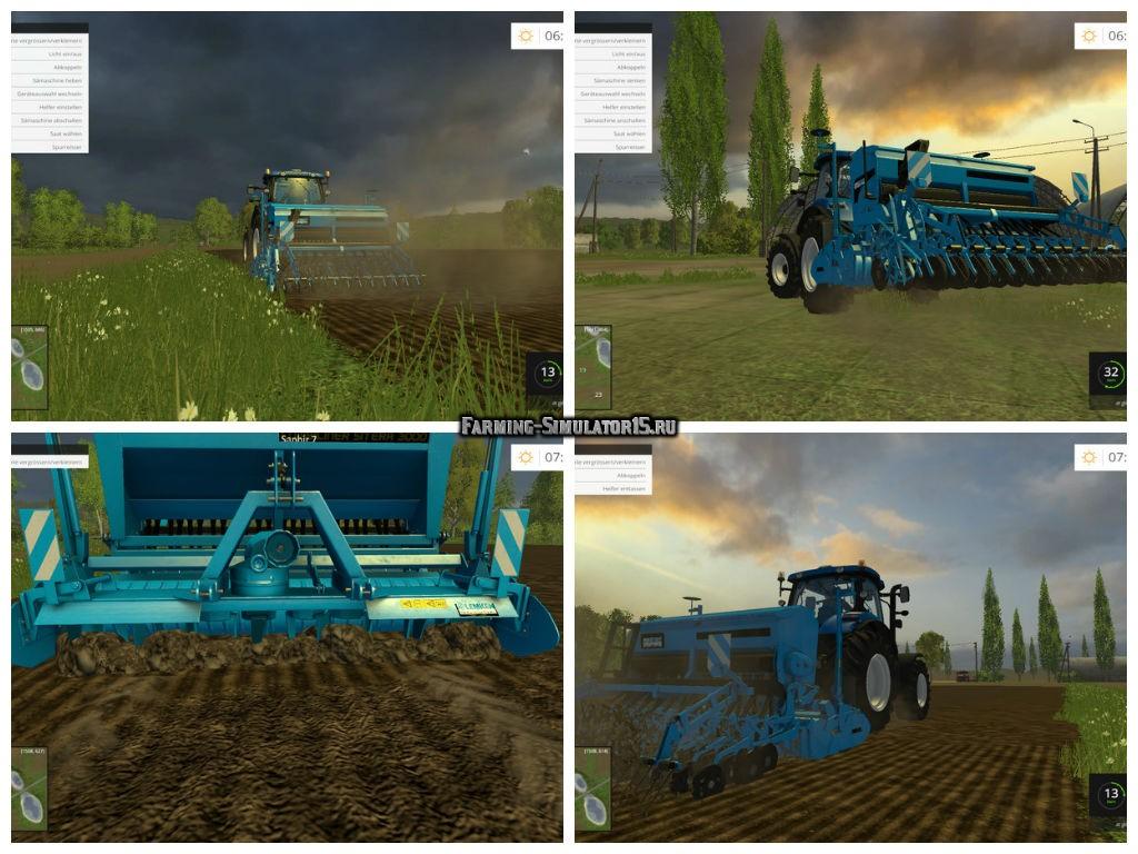 Мод сеялка Lemken Saphir 7 v 1.0 Farming Simulator 15