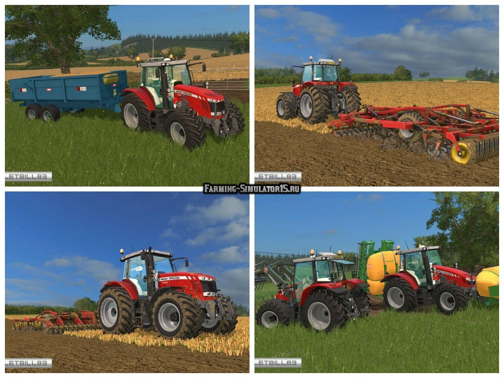 Мод ПАК тракторов Massey Ferguson Pack v 2.0 Farming Simulator 15