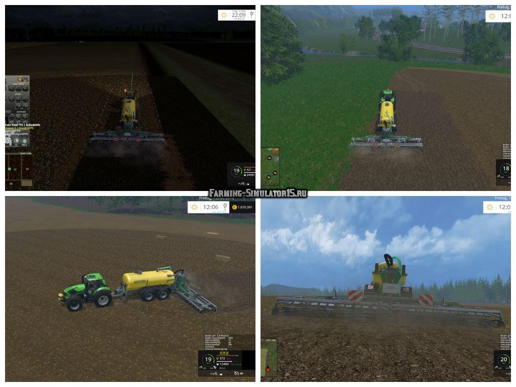 Мод культиватор Manure SW 100 v 1.0 Farming Simulator 15