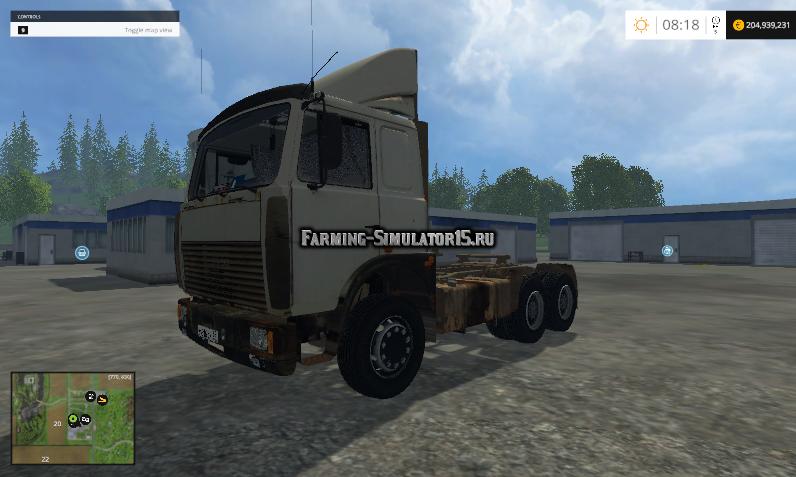 Мод грузовик МАЗ MAZ 5432 v 1.0 Фарминг Симулятор 2015