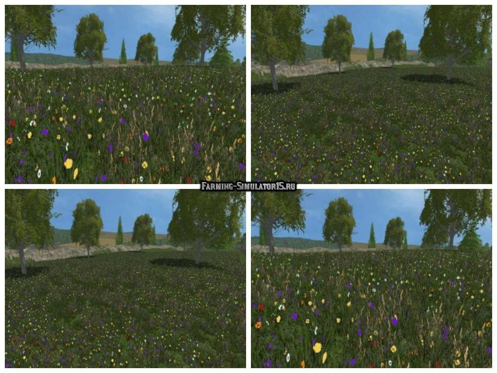 Мод текстуры травы New grass textures v1.0 Farming Simulator 2015