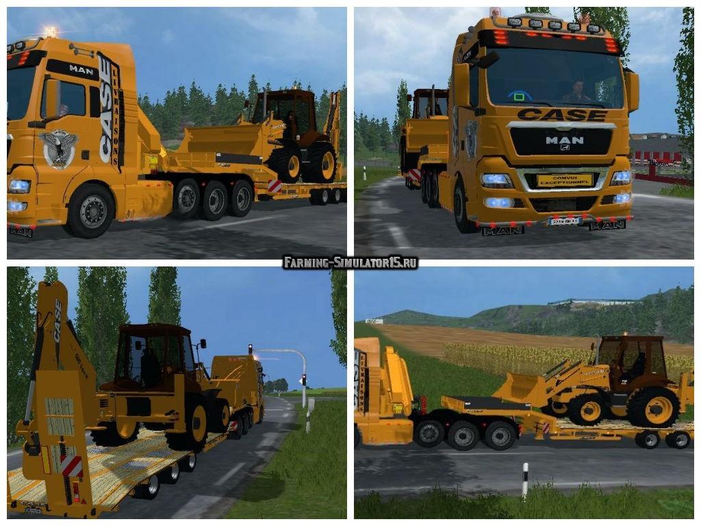 Мод ПАК MAN Case Livraison Edition + Trailer v1.0 Farming Simulator 15