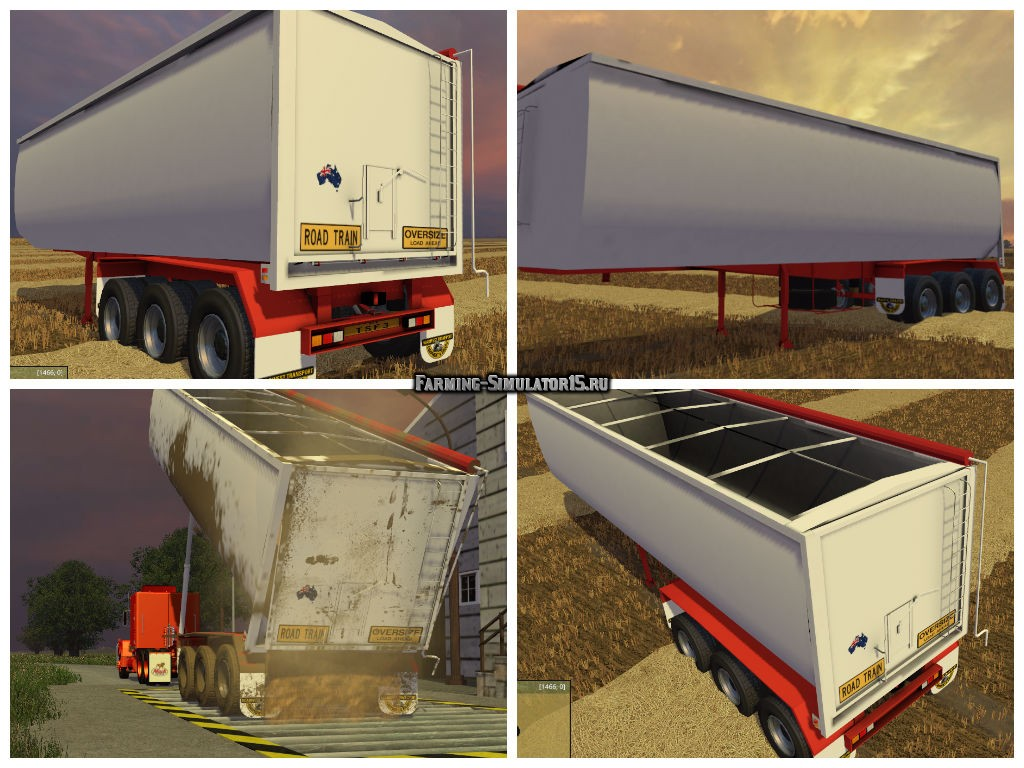Мод прицеп Road West Trailer TRI350 BT v 1.0 Farming Simulator 2015