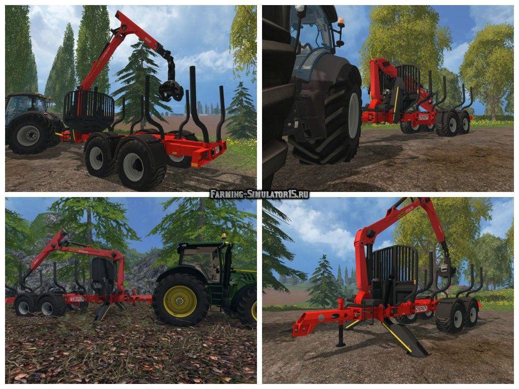 Мод прицеп Stepa VAK16 v 1.3.1 Farming Simulator 15