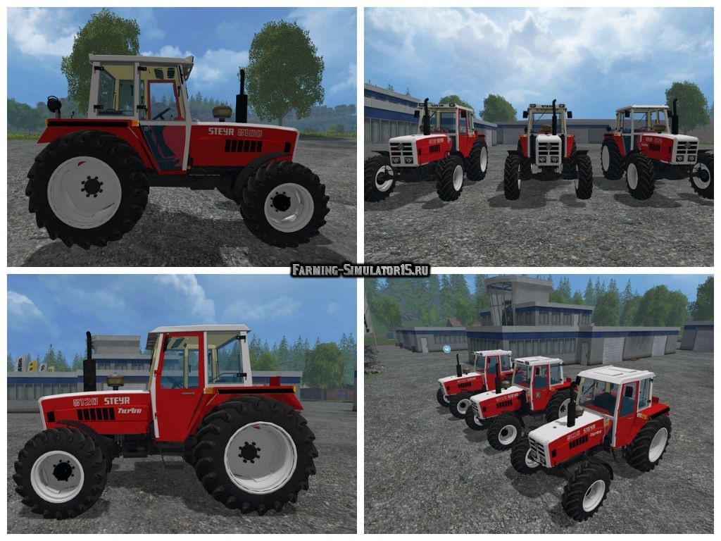 Мод ПАК трактора Steyr 8100 & 8110 & 8120 Pack v 1.0 Farming Simulator 2015