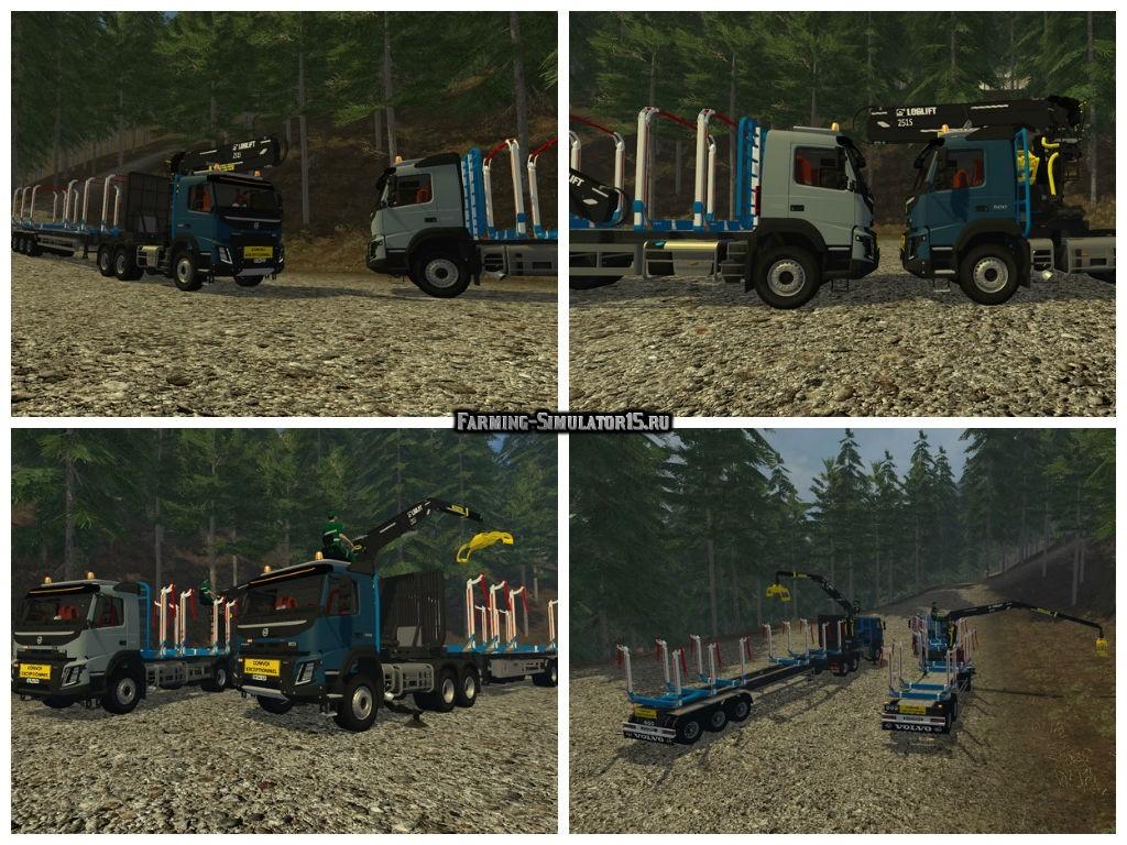 Мод грузовики Volvo FMX Grumier v 1.0 Farming Simulator 2015