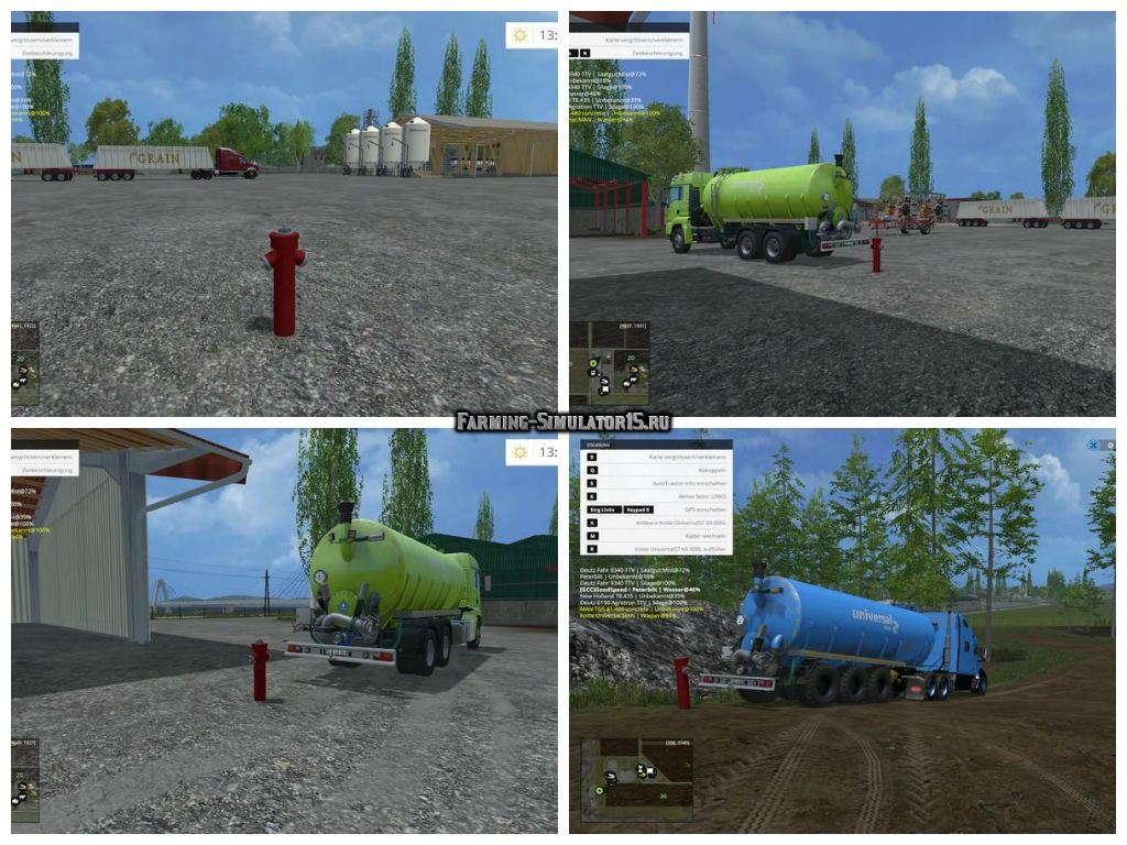 Мод колонка с водой Hydrant with water trigger v 1.0 Placeable Farming Simulator 15