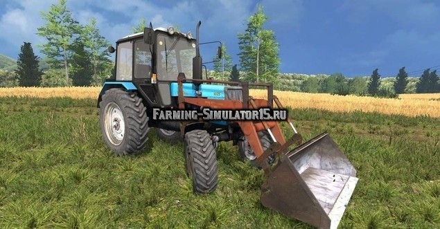Мод трактор МТЗ-1025 и ПКУ-0,8 Фермер Симулятор 2015