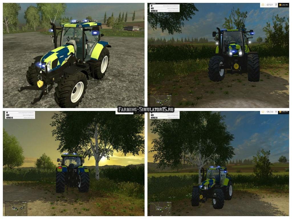 Мод трактор New Holland T6.160 Police Version v 1.0 Farming Simulator 2015