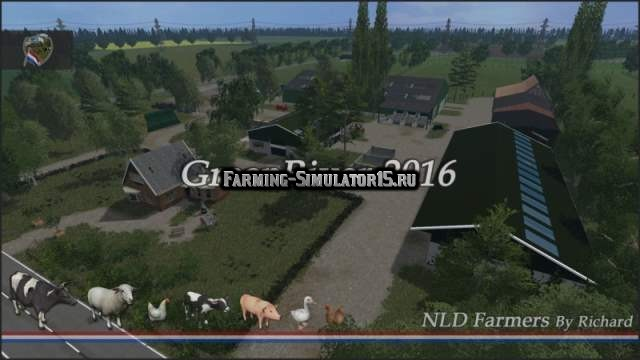 Мод карта Green River 2016 v 2.3 Multifruit Farming Simulator 15