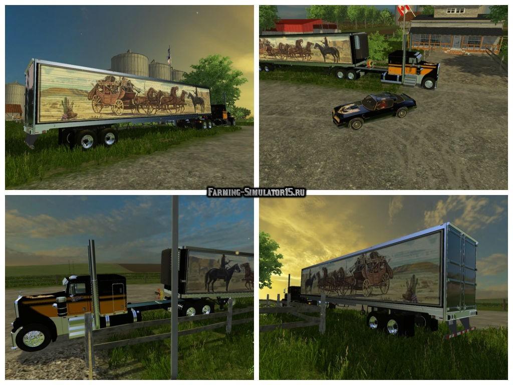 Мод Kenworth W900a & Semitrailer Bandit Edition Farming Simulator 15