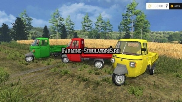 Мод авто Piaggio Ape P601 UPK Post v 1.0 Farming Simulator 15