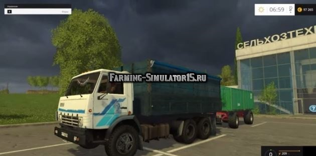 Мод грузовик КамАЗ 5320 v 2.5 Фермер Симулятор 2015