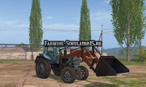 Мод трактор МТЗ-82 ПКУ v 1.0 Фарминг Симулятор 2015