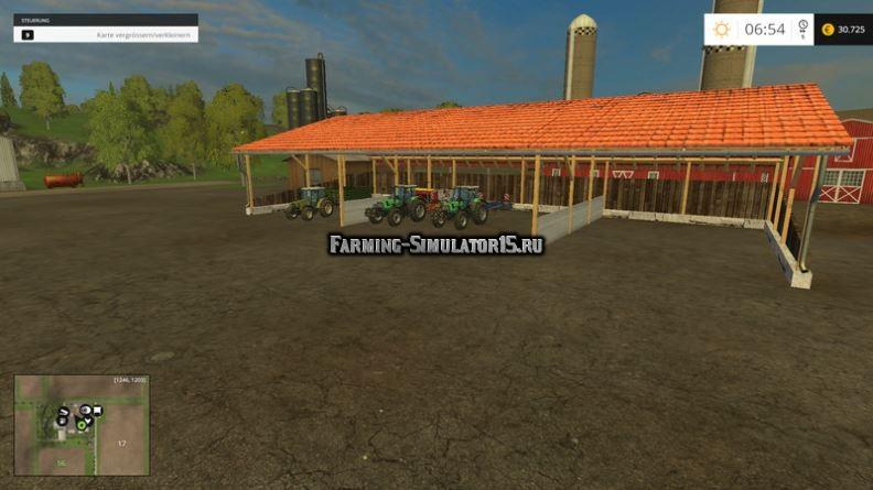Мод навес Shelter Hall v 1.0 Placeable Farming Simulator 2015