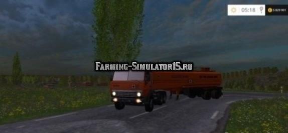 Мод грузовик КамАЗ 5410 v1.0 Фарминг Симулятор 2015