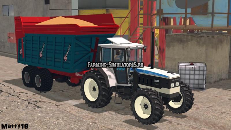 Мод прицеп Bossini 2 axes v 1.0 Farming Simulator 2015